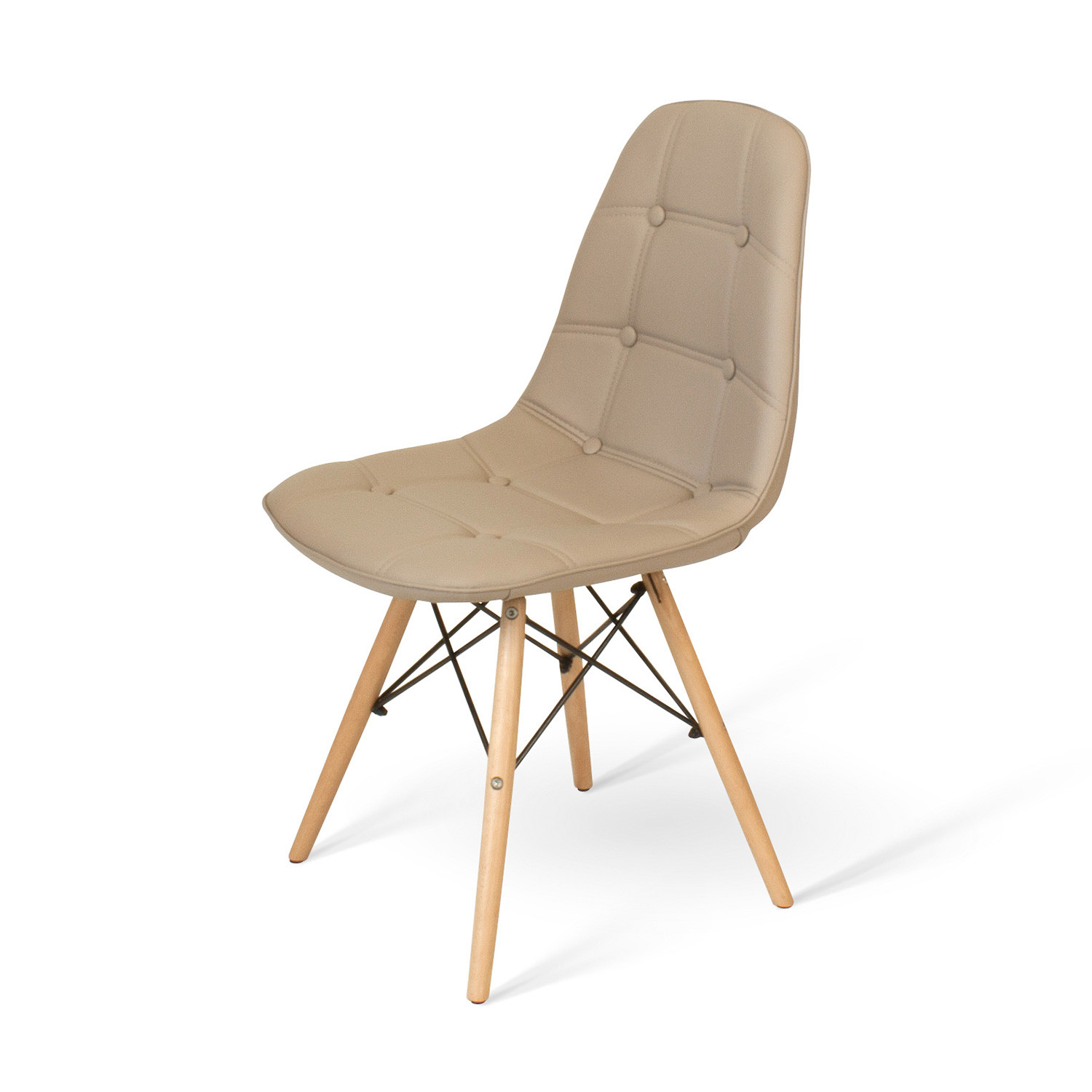 Удобный стул eames дизайн A-623 цвета капучино фото 1 — New Style of Furniture