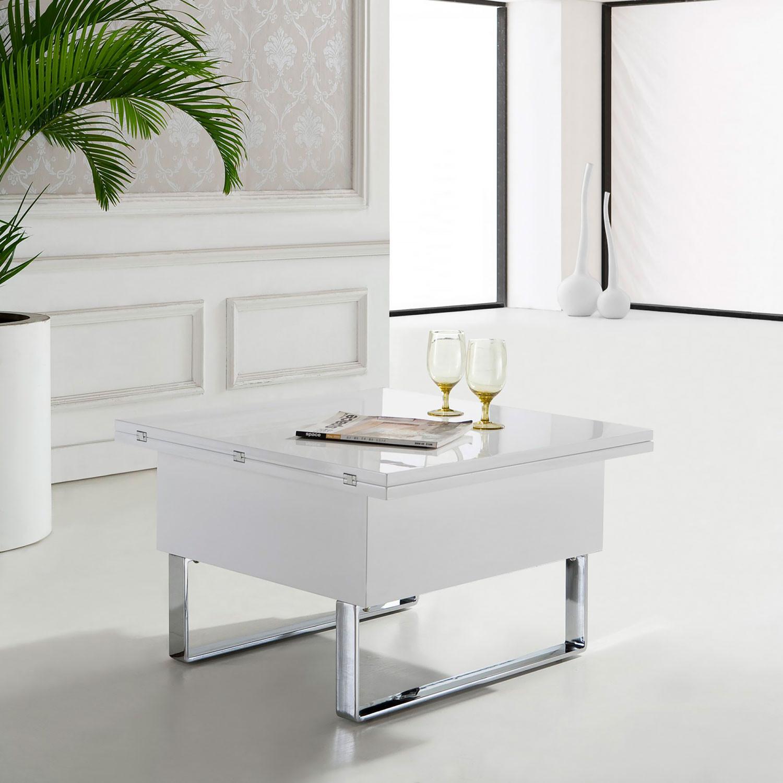 стол в2218 белый глянец трансформер журнальный обеденный купить